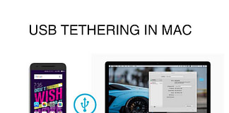 USB tethering on mac